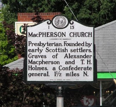 MacPherson Church Marker image. Click for full size.