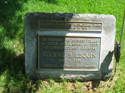 Eugene B. Lequin Memorial Park<br>Dedicated May 29, 1978 image. Click for full size.
