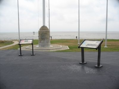Markers near the Flagpoles Photo, Click for full size