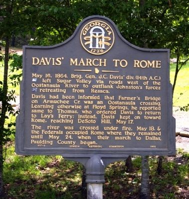 Davis� March to Rome Marker image. Click for full size.