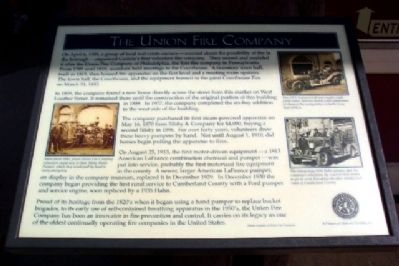 The Union Fire Company Marker image. Click for full size.