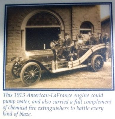 1913 Union Fire Co Engine Pic on Marker image. Click for full size.
