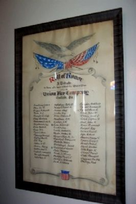 Union Fire Company World War Honor Roll image. Click for full size.