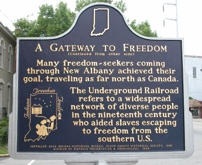 A Gateway to Freedom Marker image. Click for full size.