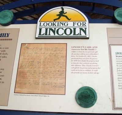Middle Section - - Lincoln's Care for His Family Marker image. Click for full size.