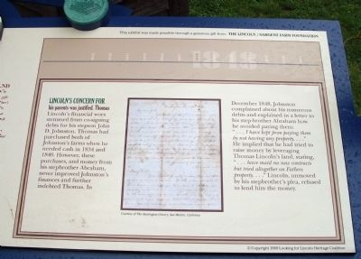 Right Section - - Lincoln's Care for His Family Marker image. Click for full size.