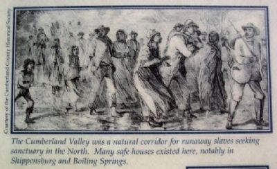 Slave Drawing on McClintock Riot Marker image. Click for full size.