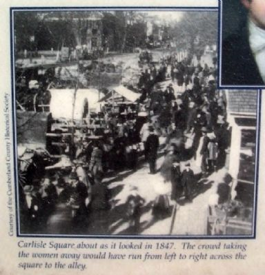 Carlisle Square Photo on McClintock Riot Marker image. Click for full size.