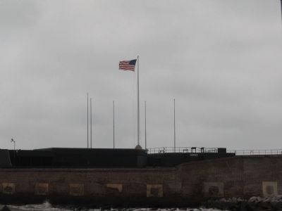 Fort Sumter's Flagpoles Photo, Click for full size