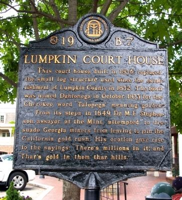 Lumpkin Court House Marker Photo, Click for full size