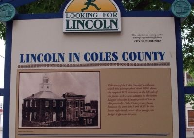 Top Section (Side Two) - - Rally After the Debate / Lincoln in Coles County Marker image. Click for full size.