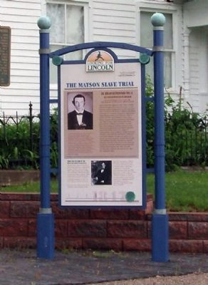 Full View - - The Matson Slave Trial Marker image. Click for full size.