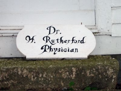 Office Sign of Dr. Hiram Rutherford image. Click for full size.