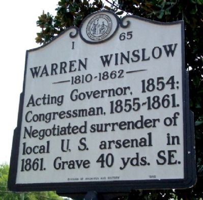 Warren Winslow Marker image. Click for full size.