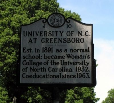 University of NC at Greensboro Marker image. Click for full size.