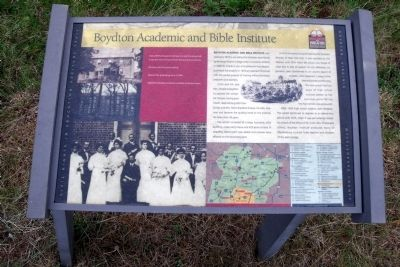 Boydton Academic and Bible Institute CRIEHT Marker image. Click for full size.