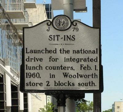 Sit-Ins Marker image. Click for full size.