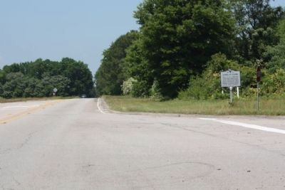 James H. Adams Marker as seen looking west along Congaree Road (SC 769) image. Click for full size.