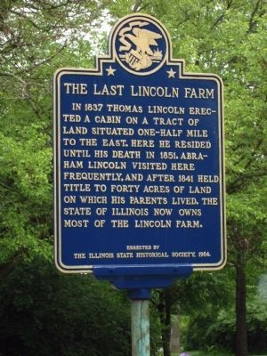 The Last Lincoln Farm Marker image. Click for full size.