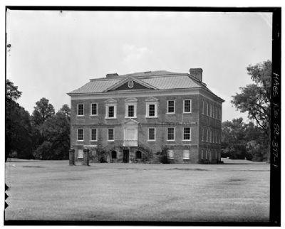 Drayton Hall northeast facade, riverside image. Click for full size.