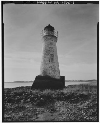 Cockspur Island Lighthouse north elevation image. Click for full size.