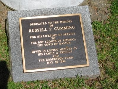 Marker at the Base of the Flagpole image. Click for full size.