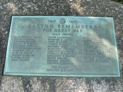Easton Remembers Marker image. Click for full size.