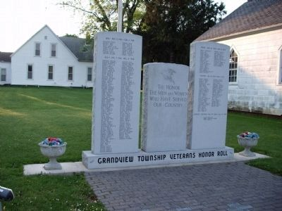 Grandview Township Veterans Honor Roll Marker image. Click for full size.
