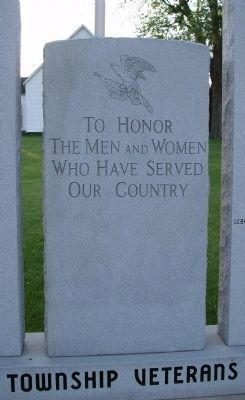 Center Panel - - Grandview Township Veterans Honor Roll Marker image. Click for full size.