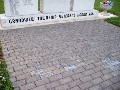 Dedication Bricks in Walk-way. . image. Click for full size.