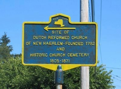 Site of Dutch Reformed Church Marker image. Click for full size.