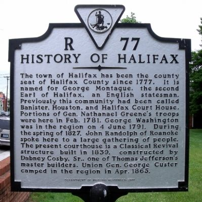 History of Halifax Marker image. Click for full size.