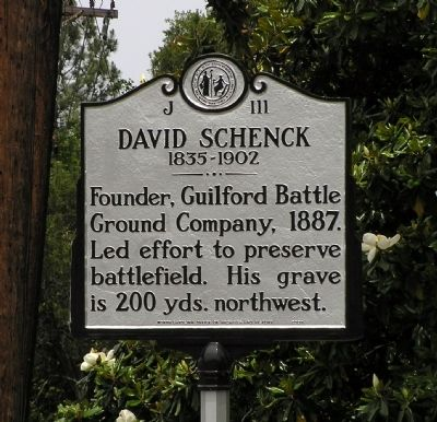 David Schenck Marker image. Click for full size.