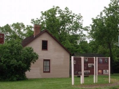 "Wide View - - ""Moore House"" & The Marker image. Click for full size."