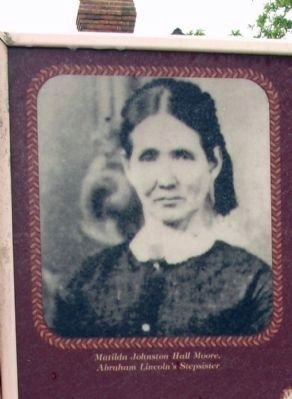 Matilda Johnston Hall Moore. Abraham Linoln's Stepsister image. Click for full size.