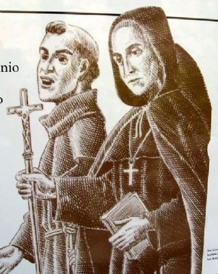 Fathers Olivares and Margil image. Click for full size.