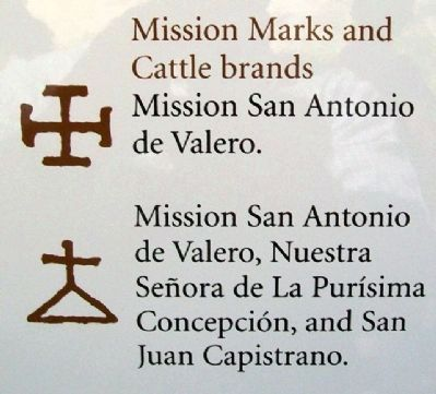 Mission Marks and Cattle brands image. Click for full size.