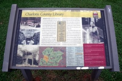 Charlotte County Library CRIEHT Marker image. Click for full size.