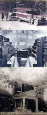 Charlotte County Library and bookmobile c.1930s. image. Click for full size.