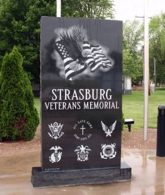 Center Panel - - Strasburg Veterans Memorial Marker Photo, Click for full size