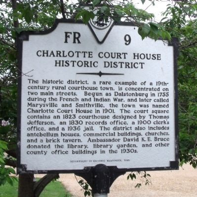 Charlotte Court House Historic District Marker image. Click for full size.