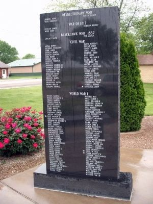 Left Panel (Front) - - Strasburg Veterans Memorial Marker Photo, Click for full size