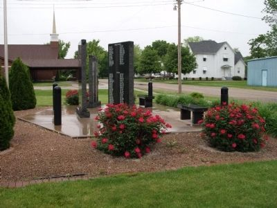 Left Side View - - Strasburg Veterans Memorial Marker Photo, Click for full size