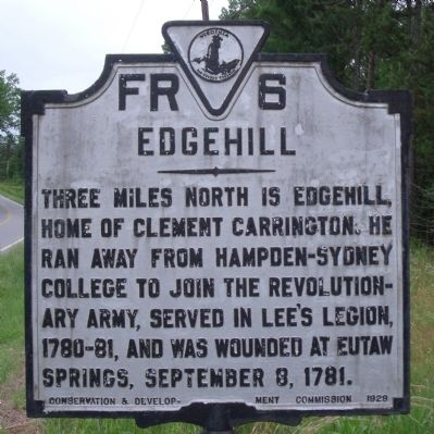 Edgehill Marker image. Click for full size.
