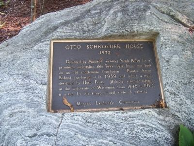 Otto Schroeder House Marker image. Click for full size.