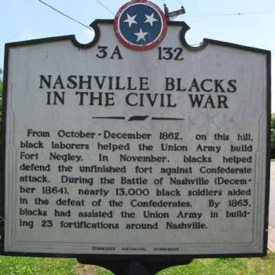 Nashville Blacks in the Civil War Marker image. Click for full size.