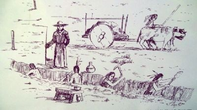 Indians Digging an Acequia image. Click for full size.
