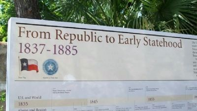 From Republic to Early Statehood, 1837-1885 image. Click for full size.