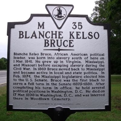 Blanche Kelso Bruce Marker image. Click for full size.