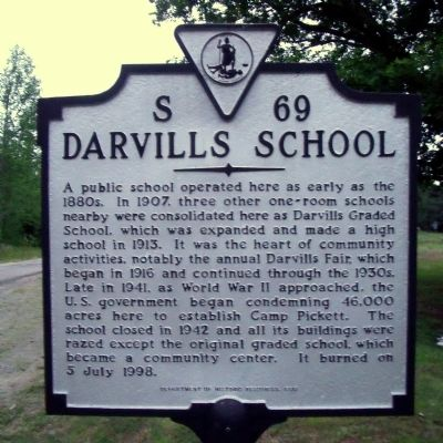 Darvill's School Marker image. Click for full size.